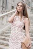 Natural Beauty. A beautiful woman posing at the street Stock Photo