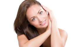 Natural beauty. Studio portrait of young beautiful woman - natural beauty concept Royalty Free Stock Image