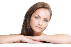 Natural beauty. Studio portrait of young beautiful woman - natural beauty concept Royalty Free Stock Images