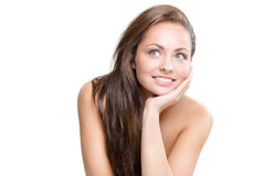 Natural beauty. Studio portrait of young beautiful woman - natural beauty concept Stock Photography