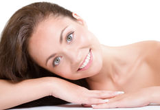 Natural beauty. Studio portrait of young beautiful woman - natural beauty concept Stock Image