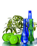 Natural beauty. Glasses with  organic creative background . Natural beauty Stock Image