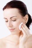 Natural beauty applying makeup Stock Photo