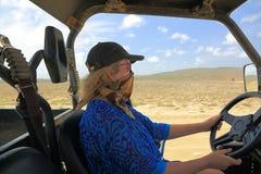 Natural beauty of Aruba. North coast. Off-road UTV Aruba tour. Royalty Free Stock Photos