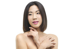 Natural beauty. A beautiful Asian woman in a close up beauty portrait Royalty Free Stock Images