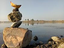 Natural beauty. Beautifully captured with android , balancing rocks Stock Photos