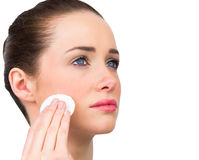 Natural beauty cleansing her face Stock Photo