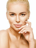 Natural beauty close up portrait of beautiful blonde Stock Image