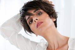 Natural beauty and fashion woman Stock Photos