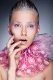 Natural beauty - fashion woman face, bright makeup Stock Image