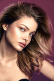 Natural Beauty fashion Woman Portrait Royalty Free Stock Image