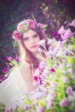 Natural beauty, flower fairy. stock photo