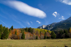 Natural beauty. Mountains in the warm autumn light Royalty Free Stock Photo