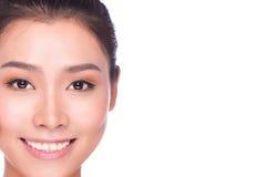 Natural beauty - no make-up young woman stock photography