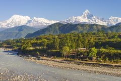 Natural beauty of pokhara, nepal Royalty Free Stock Photography
