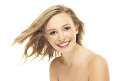 Natural beauty portrait an attractive sexual girl Royalty Free Stock Photography
