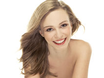 Natural beauty portrait an attractive sexual girl Stock Image