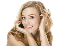 Natural beauty portrait an attractive sexual girl royalty free stock images