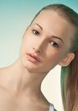 Natural beauty portrait of blond woman Royalty Free Stock Photography