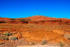 The natural beauty of the red rock canyons and sandstone of Sedona in Arizona stock photo