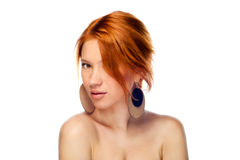 Natural Beauty woman stock images
