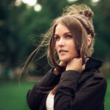Natural beauty of a woman face. Natural fashionable beauty of a woman face Stock Images