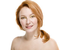 Natural beauty woman with good skin Stock Image