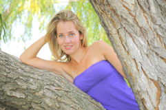 Natural beauty (woman portrait). Blond beauty posing in a natural setup Royalty Free Stock Images