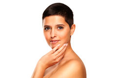 Natural Beauty - Woman With Short Hair Royalty Free Stock Photography