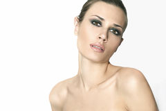 Natural beauty women in white background Royalty Free Stock Images