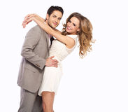 Natural beauty of young couple Stock Images