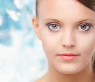 Natural Beauty, young woman with health skin Stock Photo