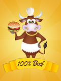 100% natural beef. Illustration of 100% natural beef Royalty Free Stock Image
