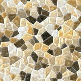 Natural beige brown marble irregular plastic stony mosaic seamless pattern texture background Stock Photography