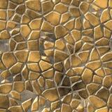 Natural beige brown paving mosaic stone seamless pattern Stock Image