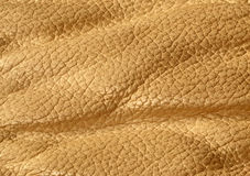 Natural beige leather surface Stock Photography