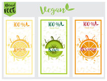 Natural, bio, fresh, healthy food label set in vector Royalty Free Stock Photography