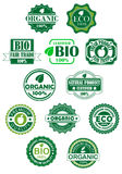 Natural and bio labels Royalty Free Stock Photography