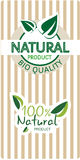 Natural bio quality tags Stock Images
