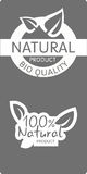 Natural bio quality tags Royalty Free Stock Image