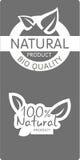 Natural bio quality tags Royalty Free Stock Image
