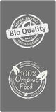 Natural bio quality tags Stock Photo