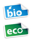 Natural bio sticker  set Stock Photo