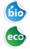 Natural bio sticker  set Stock Image