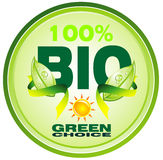 Natural and Bio symbol tag Royalty Free Stock Photos