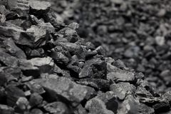 Natural black coals for background. Industrial coals stock photo