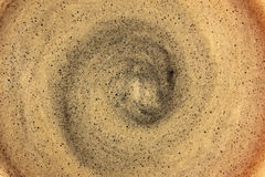 Natural black coffee foam texture. Royalty Free Stock Images