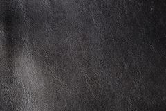 Natural black leather Stock Photography