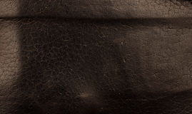 Natural black leather background Stock Image