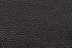Natural black leather surface Royalty Free Stock Photography